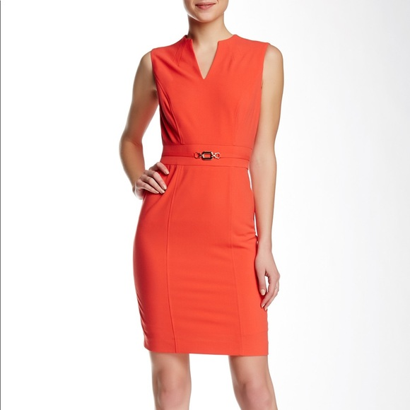 2dbda4b809fc Tahari Dresses | Asl Split Neck Sleeveless Sheath Dress | Poshmark